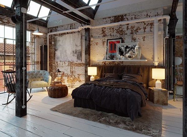 beautiful industrial stil m bel ideas. Black Bedroom Furniture Sets. Home Design Ideas
