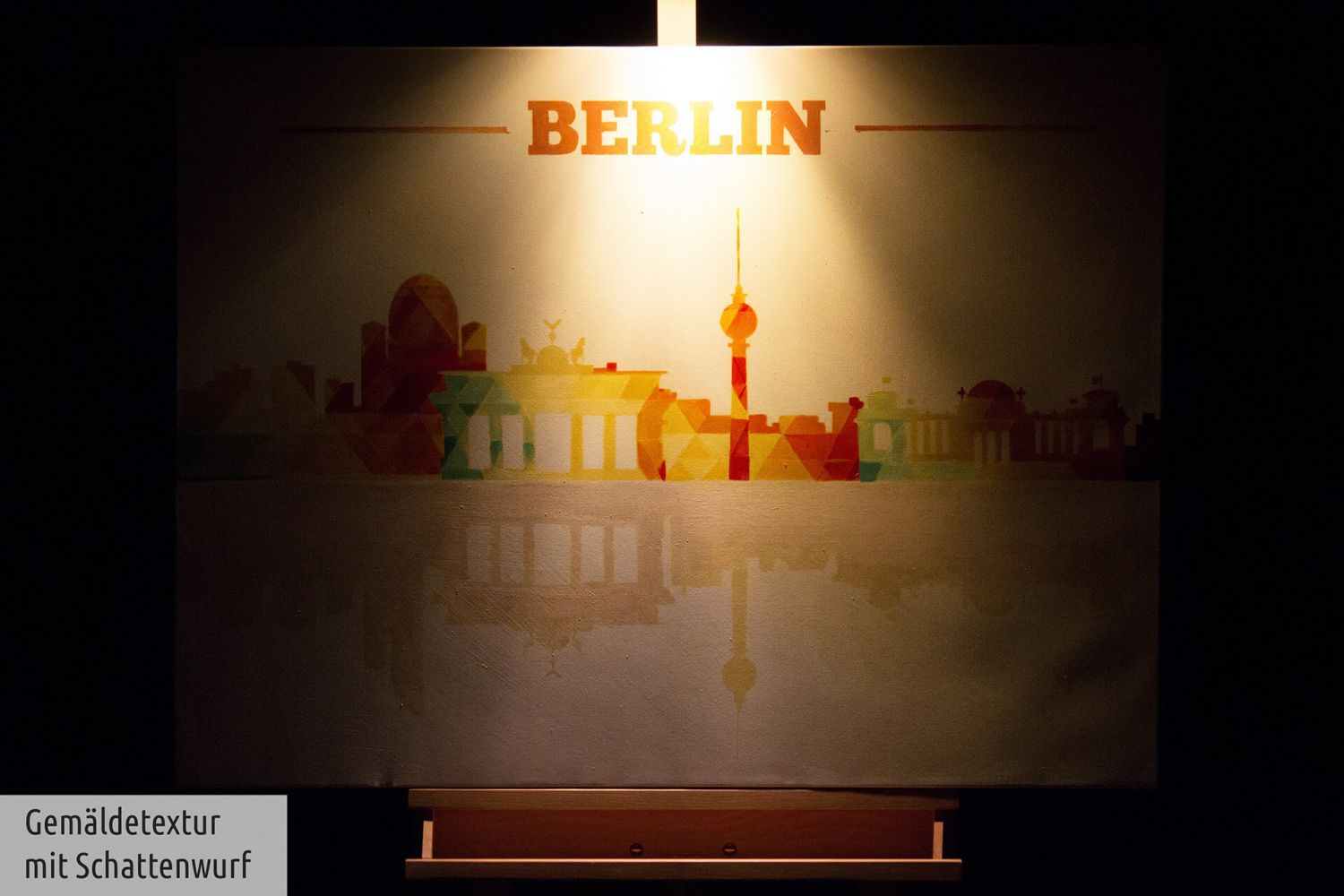acryl gem lde 39 berlin skyline bunt 39 handgemalt leinwand bilder 100x75cm ebay. Black Bedroom Furniture Sets. Home Design Ideas