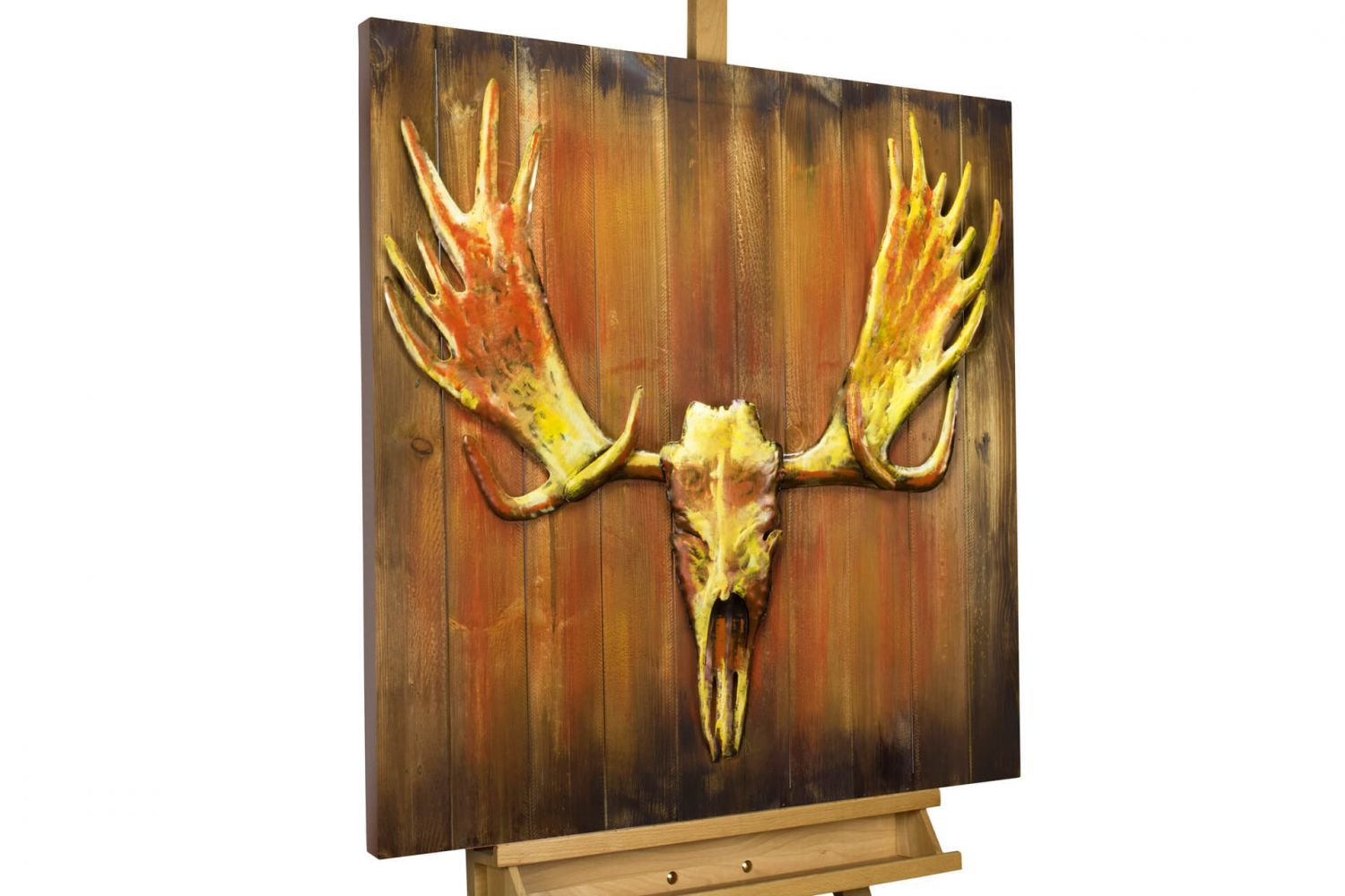 Wood Wall Art Rustic Decor Mural Painting Decor 31x31x2inches